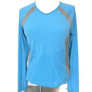 The North Face Blue Gray Long Sleeve Top Medium